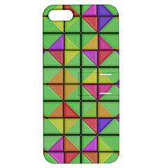 3d Rhombus Pattern			apple Iphone 5 Hardshell Case With Stand by LalyLauraFLM