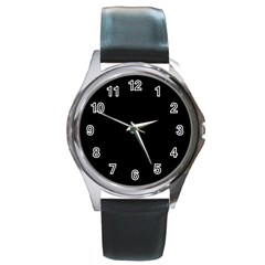 Black Gothic Round Metal Watches by Costasonlineshop