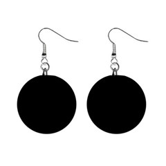 Black Gothic Mini Button Earrings by Costasonlineshop