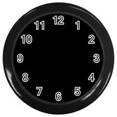 Black Gothic Wall Clocks (black) by Costasonlineshop