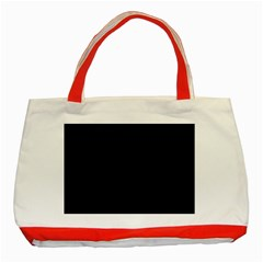 Black Gothic Classic Tote Bag (red)  by Costasonlineshop