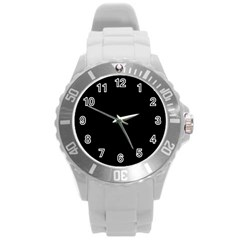 Black Gothic Round Plastic Sport Watch (l) by Costasonlineshop