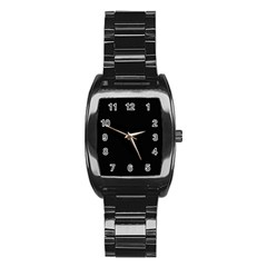Black Gothic Stainless Steel Barrel Watch by Costasonlineshop