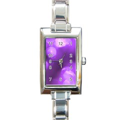Purple Circles Rectangle Italian Charm Watches by timelessartoncanvas