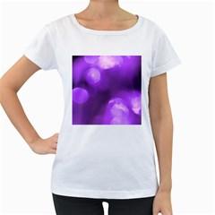 Purple Circles Women s Loose-Fit T-Shirt (White) by timelessartoncanvas