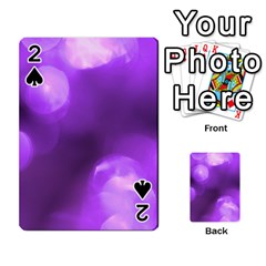 Purple Circles Playing Cards 54 Designs  by timelessartoncanvas