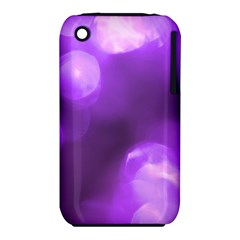 Purple Circles Apple Iphone 3g/3gs Hardshell Case (pc+silicone) by timelessartoncanvas