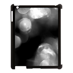 Black And White Circle Apple Ipad 3/4 Case (black) by timelessartoncanvas