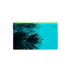 Modern Palm Leaves Cosmetic Bag (xs) by timelessartoncanvas