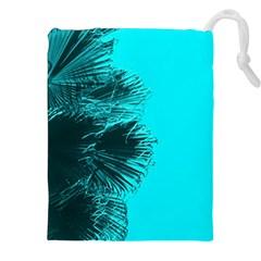 Modern Palm Leaves Drawstring Pouches (xxl) by timelessartoncanvas
