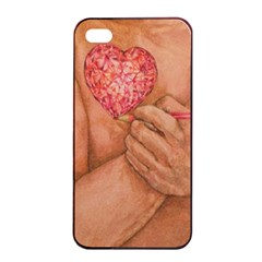 Embrace Love  Apple Iphone 4/4s Seamless Case (black) by KentChua