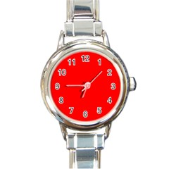 Trendy Red  Round Italian Charm Watches by Costasonlineshop