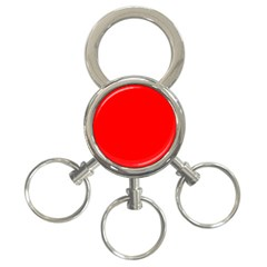 Trendy Red  3-Ring Key Chains by Costasonlineshop