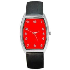 Trendy Red  Barrel Metal Watches by Costasonlineshop