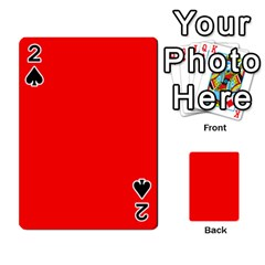 Trendy Red  Playing Cards 54 Designs  by Costasonlineshop
