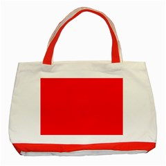 Trendy Red  Classic Tote Bag (red)  by Costasonlineshop