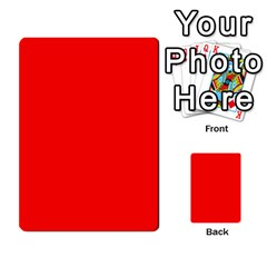 Trendy Red  Multi Purpose Cards (rectangle)  by Costasonlineshop