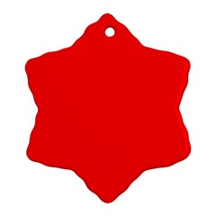 Trendy Red  Ornament (snowflake)  by Costasonlineshop