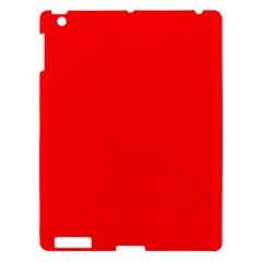 Trendy Red  Apple Ipad 3/4 Hardshell Case by Costasonlineshop