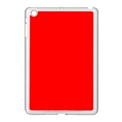 Trendy Red  Apple iPad Mini Case (White) by Costasonlineshop