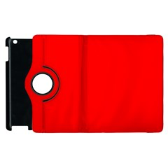 Trendy Red  Apple Ipad 2 Flip 360 Case by Costasonlineshop