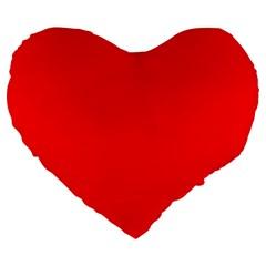Trendy Red  Large 19  Premium Flano Heart Shape Cushions by Costasonlineshop