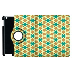 Stars And Squares Patternapple Ipad 3/4 Flip 360 Case by LalyLauraFLM