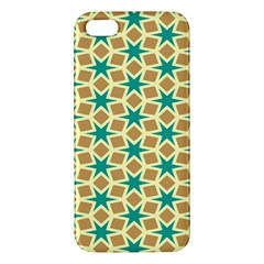 Stars And Squares Pattern			apple Iphone 5 Premium Hardshell Case by LalyLauraFLM