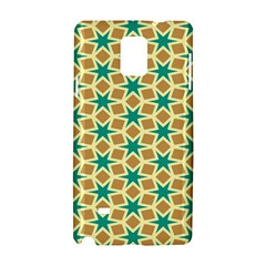 Stars And Squares Pattern			samsung Galaxy Note 4 Hardshell Case by LalyLauraFLM