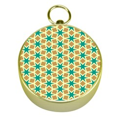 Stars And Squares Pattern			gold Compass by LalyLauraFLM