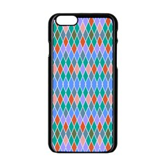 Pastel Rhombus Pattern			apple Iphone 6/6s Black Enamel Case by LalyLauraFLM