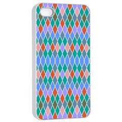 Pastel Rhombus Patternapple Iphone 4/4s Seamless Case (white) by LalyLauraFLM
