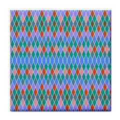 Pastel Rhombus Patterntile Coaster by LalyLauraFLM