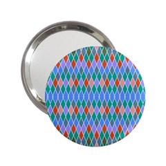 Pastel Rhombus Pattern2 25  Handbag Mirror by LalyLauraFLM