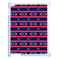 Stripes And Other Shapes Pattern			apple Ipad 2 Case (white) by LalyLauraFLM