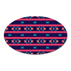Stripes And Other Shapes Pattern 			magnet (oval) by LalyLauraFLM