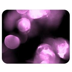 Purple Circles No  2 Double Sided Flano Blanket (medium)  by timelessartoncanvas