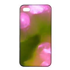 Pink And Green Circles Apple Iphone 4/4s Seamless Case (black) by timelessartoncanvas