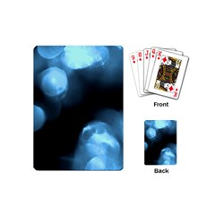 Blue Circles Playing Cards (mini)  by timelessartoncanvas