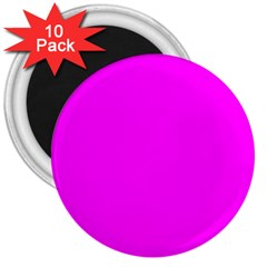 Trendy Purple  3  Magnets (10 Pack)  by Costasonlineshop