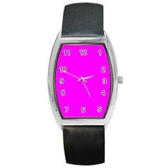 Trendy Purple  Barrel Metal Watches by Costasonlineshop