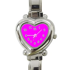 Trendy Purple  Heart Italian Charm Watch by Costasonlineshop