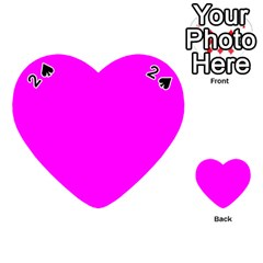 Trendy Purple  Playing Cards 54 (heart)  by Costasonlineshop