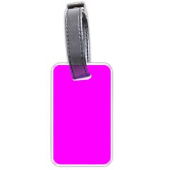 Trendy Purple  Luggage Tags (One Side)  by Costasonlineshop