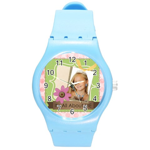 Easter By Kids   Round Plastic Sport Watch (m)   1t1p9s6w4rrf   Www Artscow Com Front