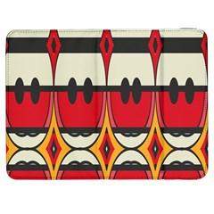 Rhombus ovals and stripesSamsung Galaxy Tab 7  P1000 Flip Case by LalyLauraFLM