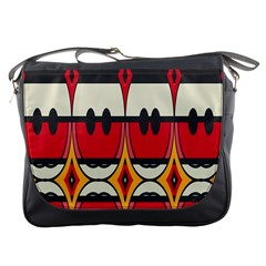 Rhombus Ovals And Stripes 			messenger Bag by LalyLauraFLM