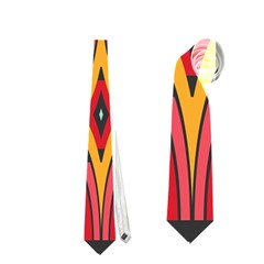 Rhombus Ovals And Stripes Necktie by LalyLauraFLM