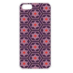 Flowers And Honeycomb Pattern			apple Iphone 5 Seamless Case (white) by LalyLauraFLM