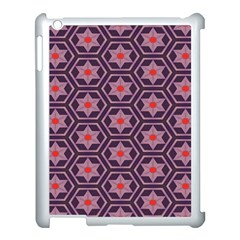 Flowers And Honeycomb Pattern			apple Ipad 3/4 Case (white) by LalyLauraFLM